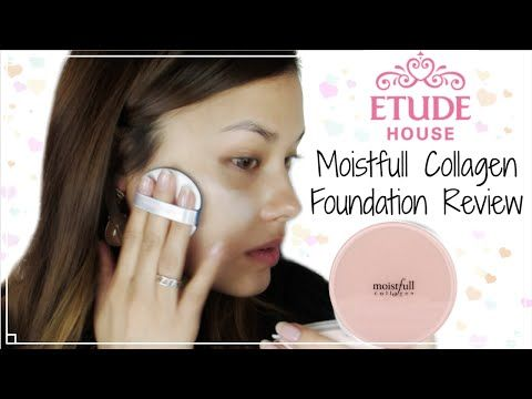 First Impressions ♥ Etude House New Moistfull Collagen Foundation Review 에뛰드하우스 수분가득 콜라겐 파운데이션 리뷰 - YouTube