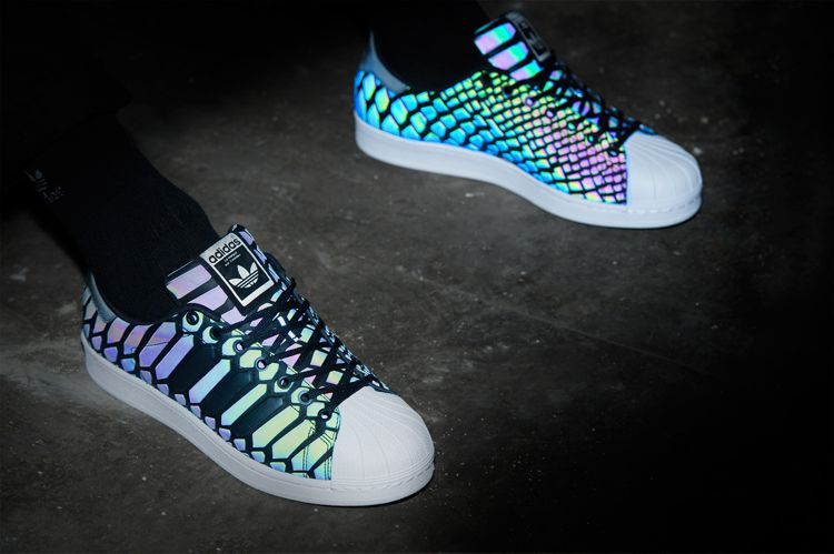 e887af588a6ff The iconic Adidas  Superstar silhouette gets a new colorway for this season  featuring the innovative XENO light responsive technology.