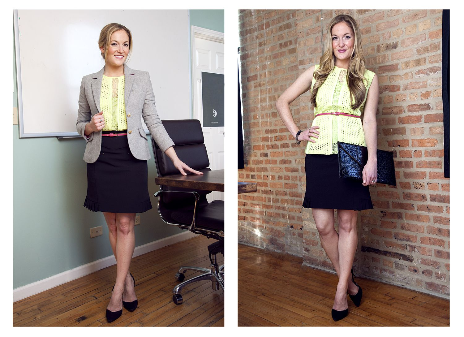 Desk-To-Dinner Looks for Spring | Beth Gets Creative with Tucking and Belting