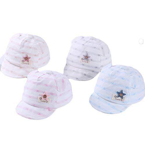 f135479b DANMY Baby Boy Baseball Cap Striped Sunhat Sun Protection Bow Hat Review  #babysunhats