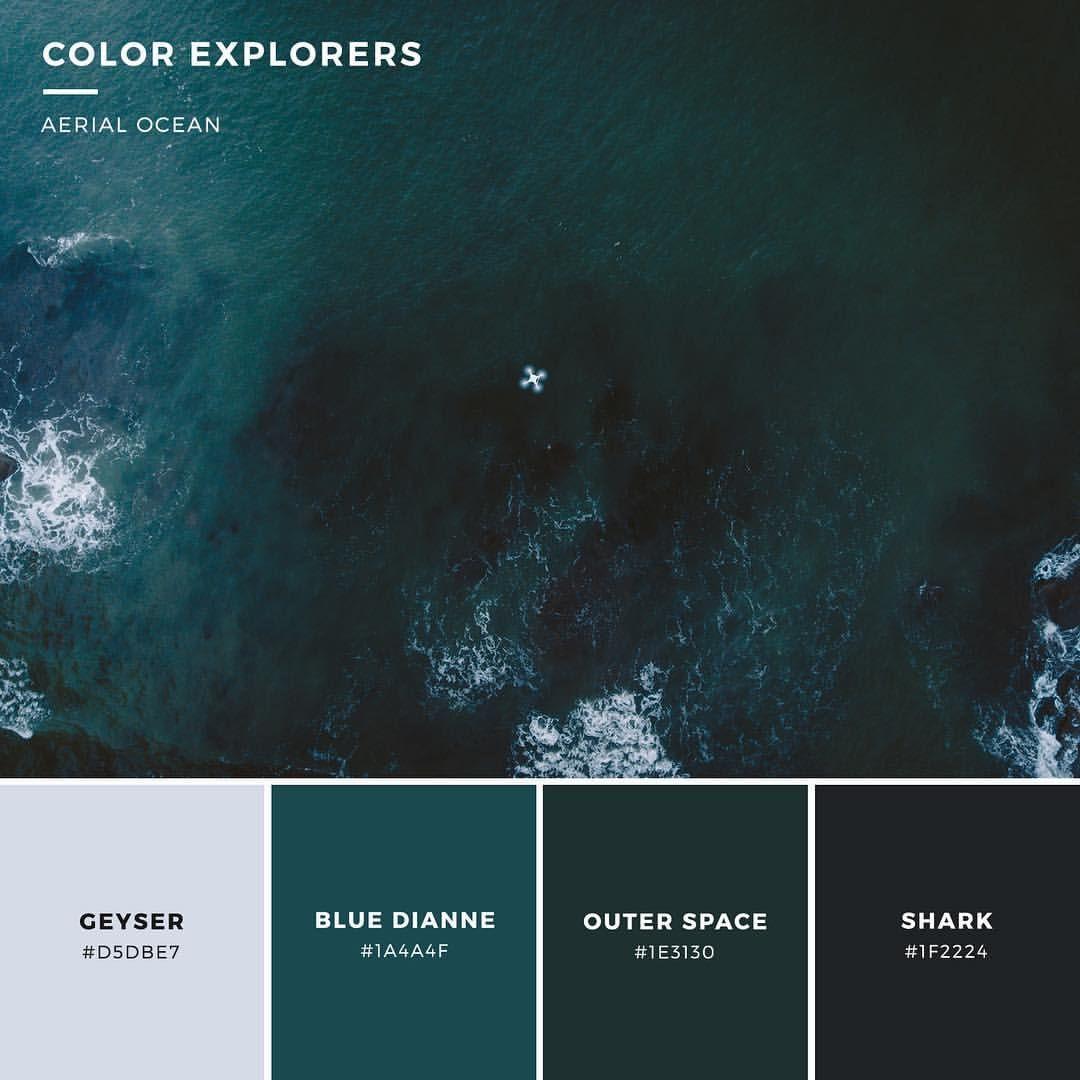 Orange And Teal Walls: Deep Teal Ocean #colorpalette #color #colorexplorers
