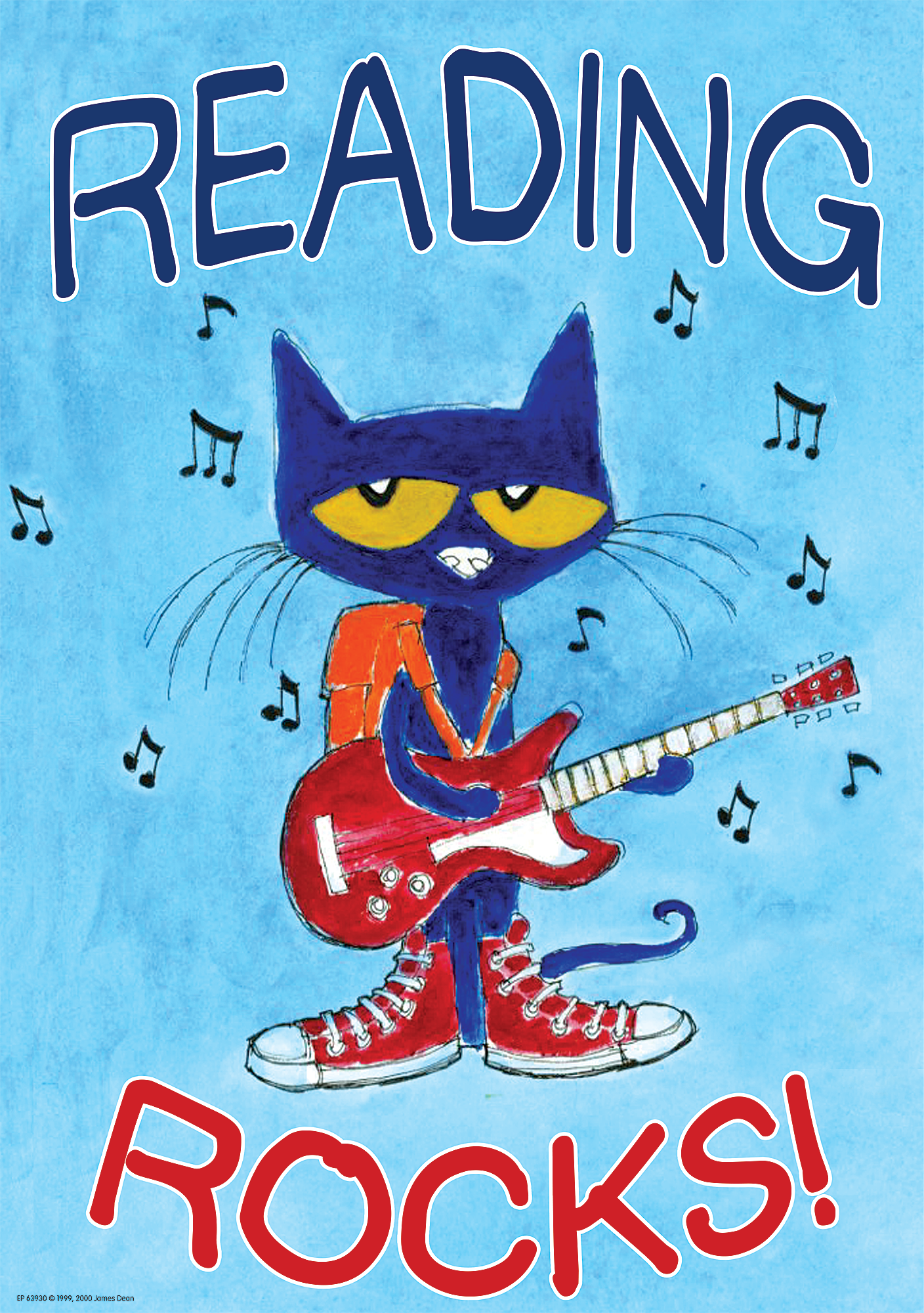 Pete The Cat Reading Rocks Poster Inspire And Motivate Kids Of All Ages Brightens Any Classroom Poster Measures 13 3 8 Pete The Cat Pete The Cats I School