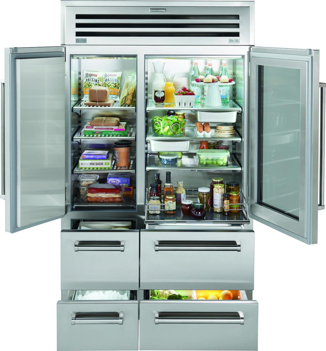 Sub Zero 48 Pro Refrigerator Freezer With Glass Door Pro4850g Refrigerator Freezer Glass Door Refrigerator Glass Refrigerator