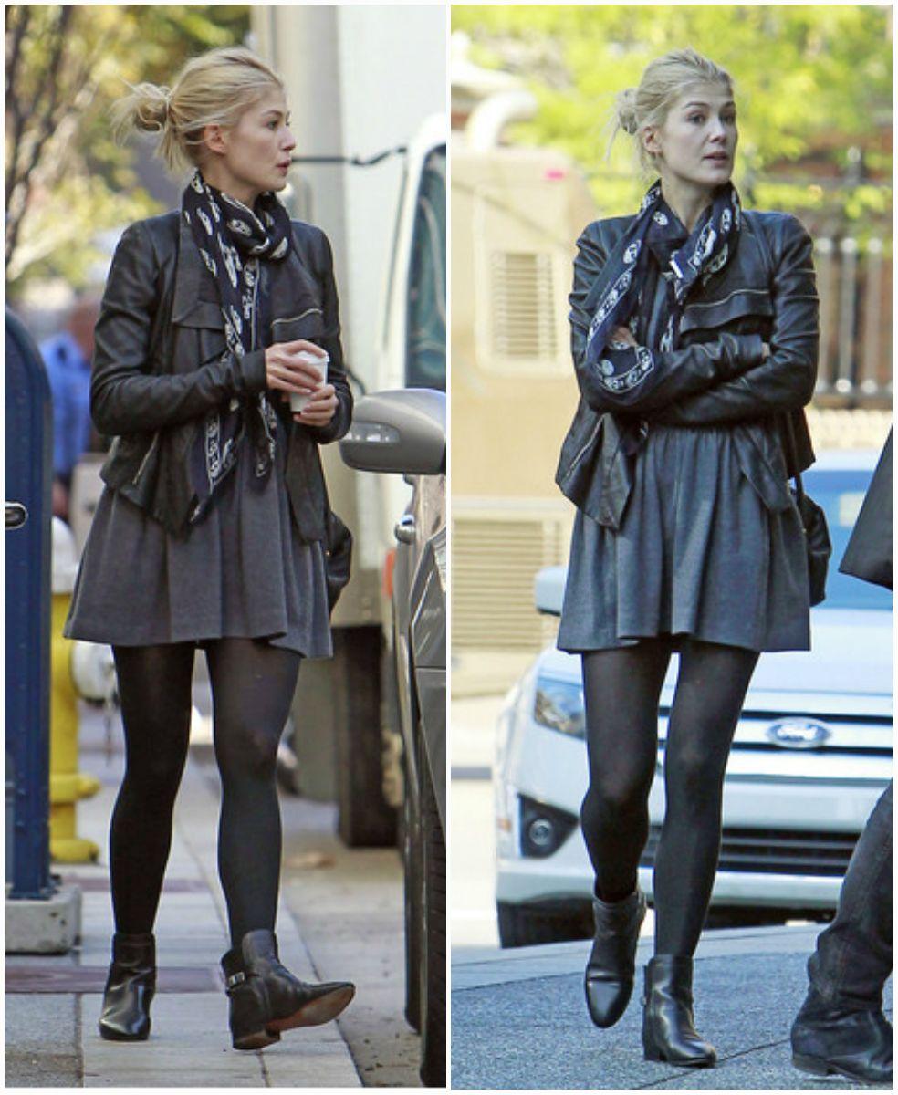 Rosamund Pike  street style #fashion