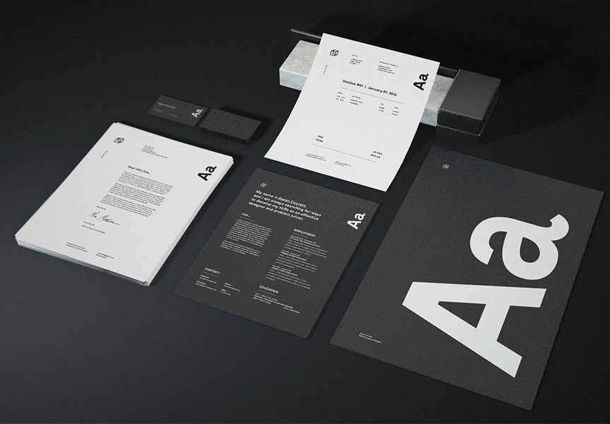 dark stationery mockup psd bundle | mockup, psd templates and graphics, Powerpoint templates