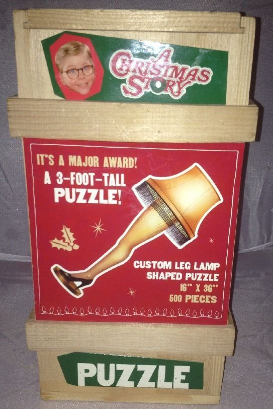 A Christmas Story 3 Foot Tall Leg Lamp Puzzle 500 Pieces Sealed