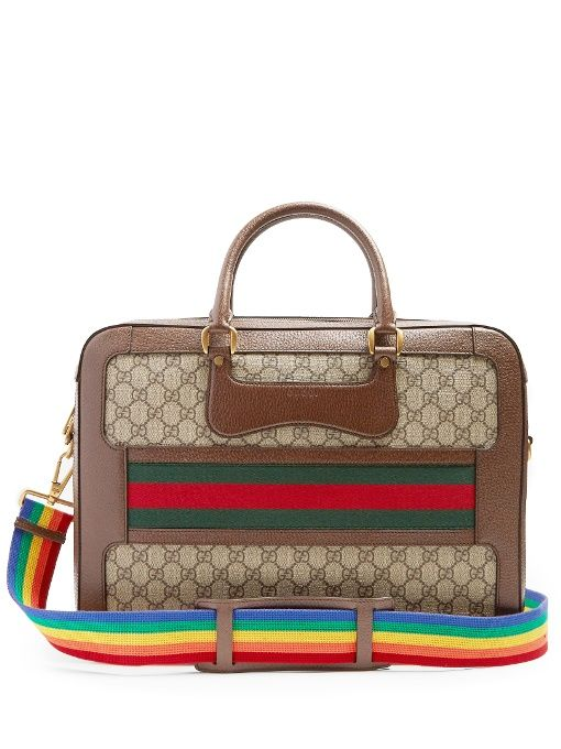 e4ae1d35208406 Gucci GG Supreme canvas and leather briefcase   Everything Gucci ...