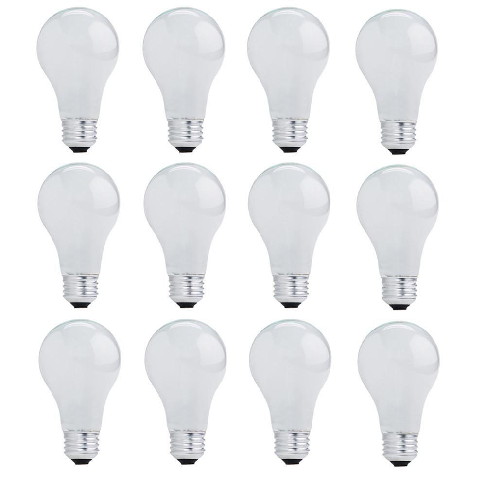53 Watt A19 Dimmable Soft White Halogen Light Bulb 12 Pack Led Light Bulb Light Bulb Design