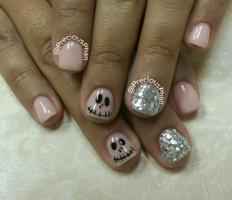 Jack skellington nails. The Nightmare before Christmas nails. Loose ...