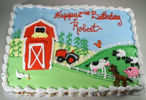 27 Farm Animals Themed Birthday Sheet Cake Design With Images