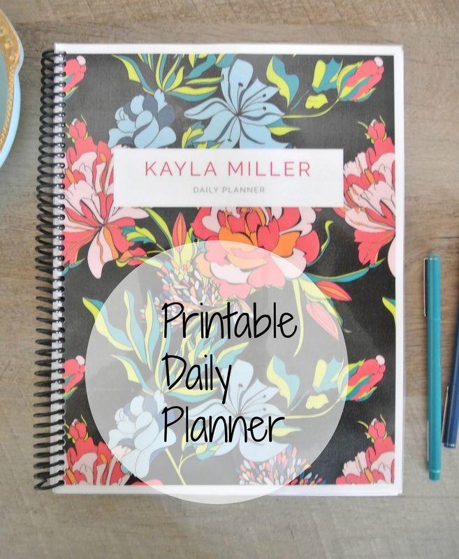Custom Daily Planner Printables Organising Pinterest Free - Custom daily planner
