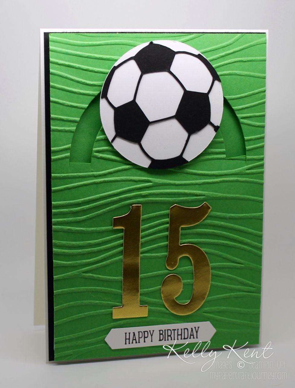 Handmade Greeting Card Soccer Birthday Card Son Daughter Child 39 S Children 39 S Kids Birthday Cards Dad Birthday Card Diy Birthday Card For Boyfriend