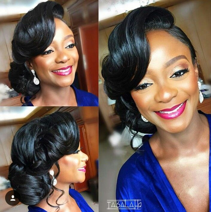 Pin By Missdestiny On My Wedding In 2020 Black Wedding Hairstyles Black Bridesmaids Hairstyles Bride Hairstyles Updo