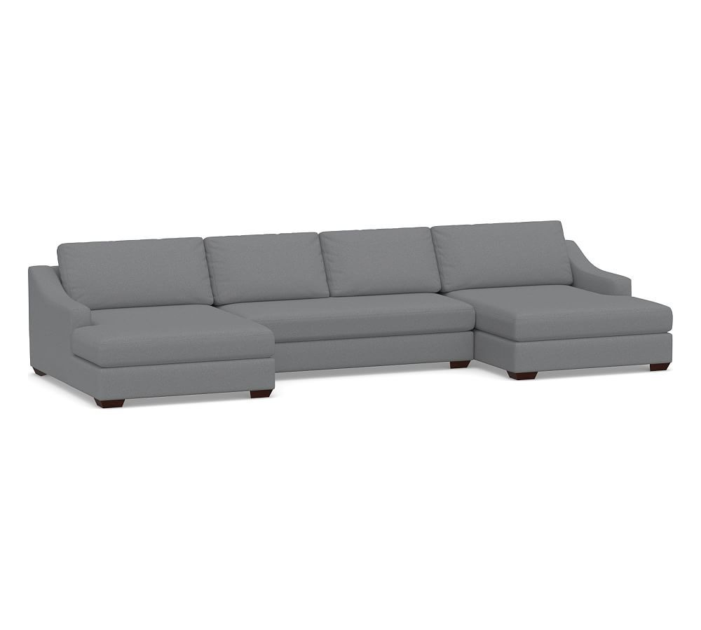 Big Sur Slope Arm Upholstered U Chaise Double Sectional Double