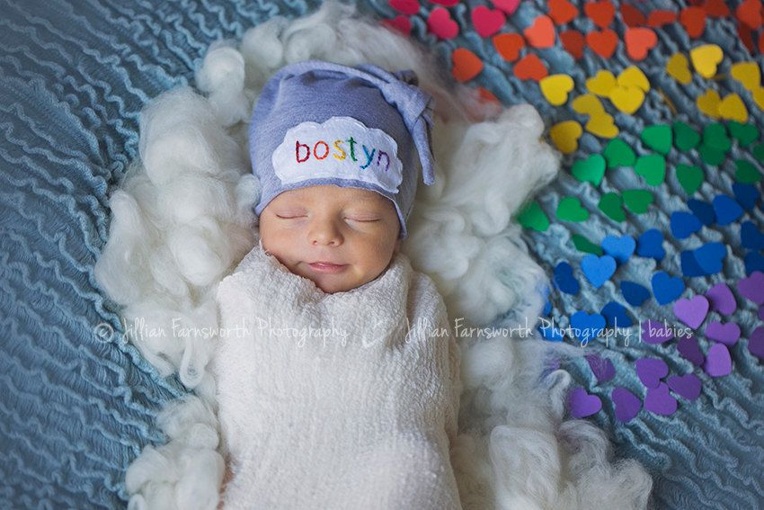 Rainbow baby newborn personalized hat hospital hat rainbow rainbow baby gift custom hat personalized baby gift embroidered name hat newborn hat rainbow baby photo prop negle Image collections