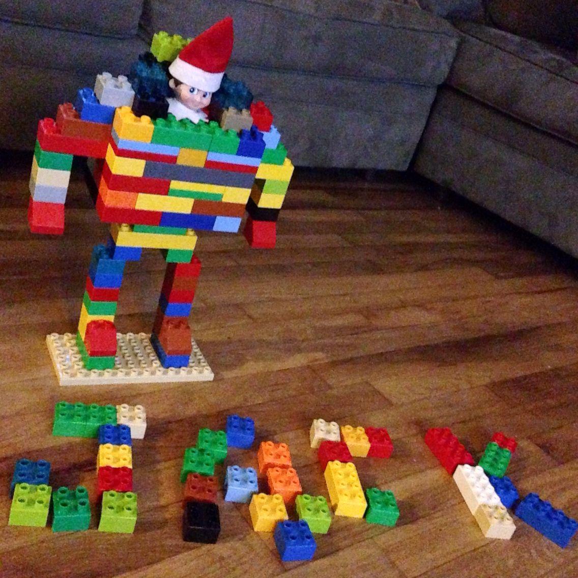 Elf on the shelf LEGO robot suit Elf on the shelf