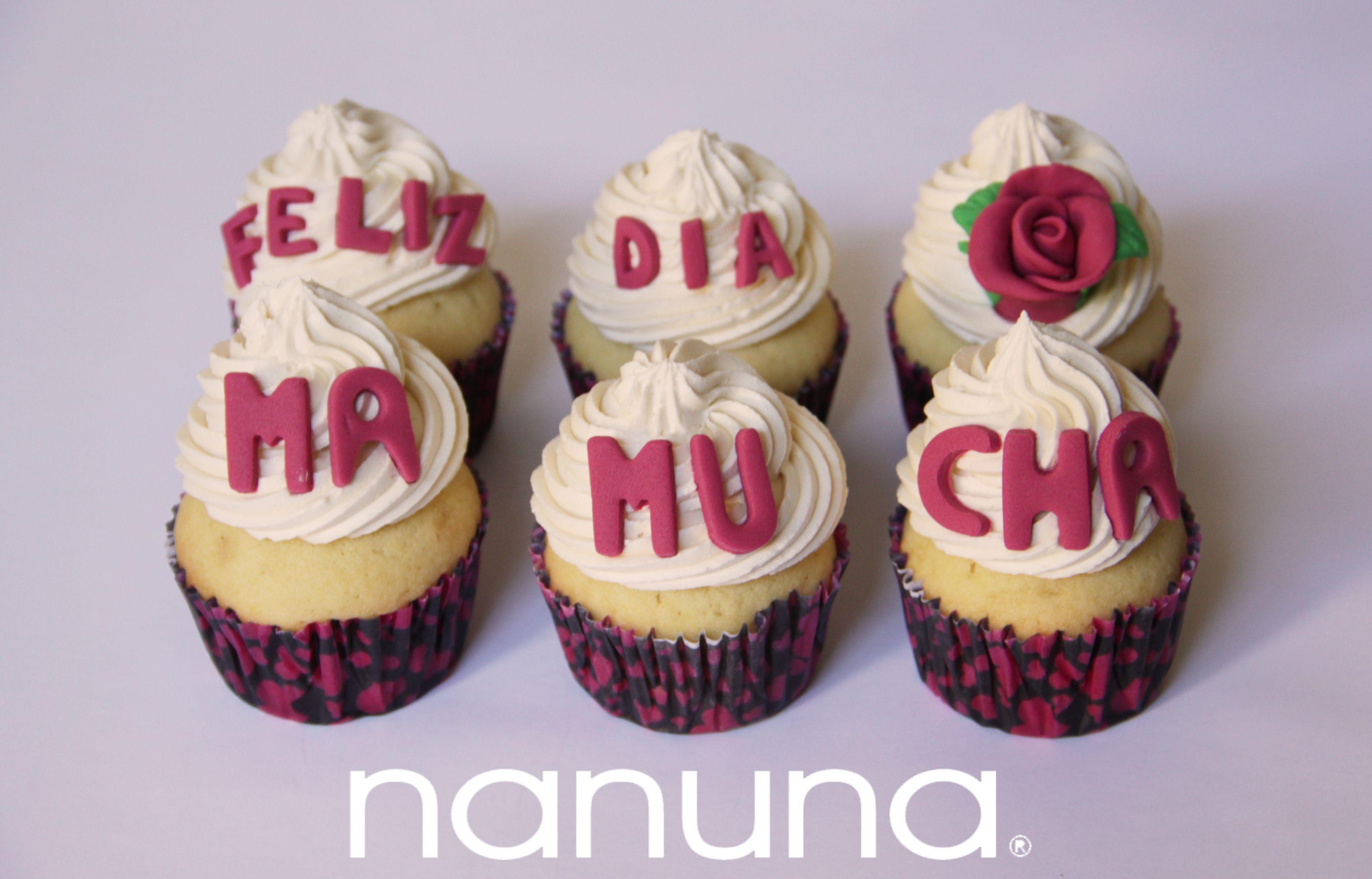 Cupcakes con mensaje especial d a de la madre Cupcakes Tortas