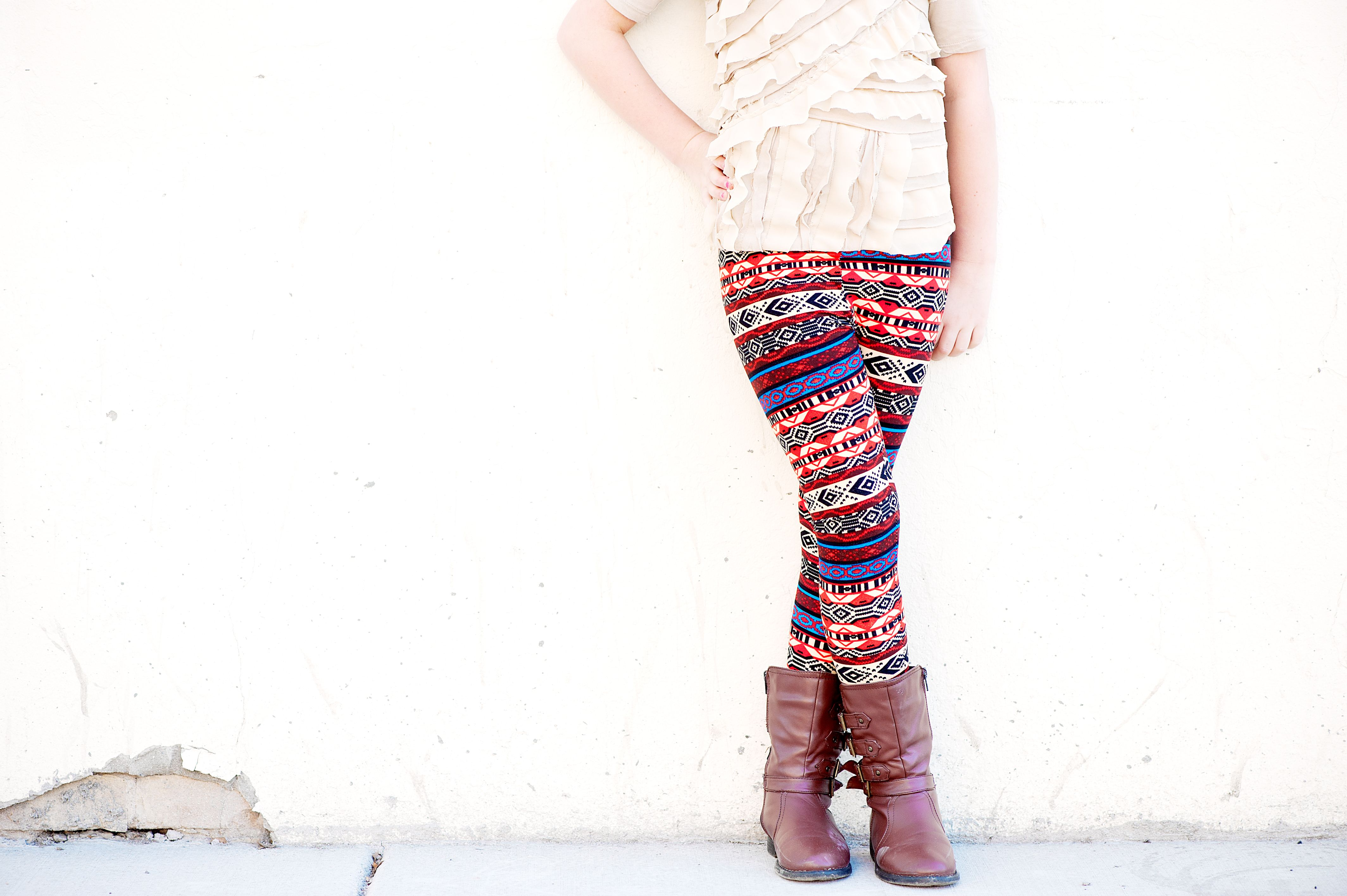 Kids aztec stripe red and blue nesanddora my yr