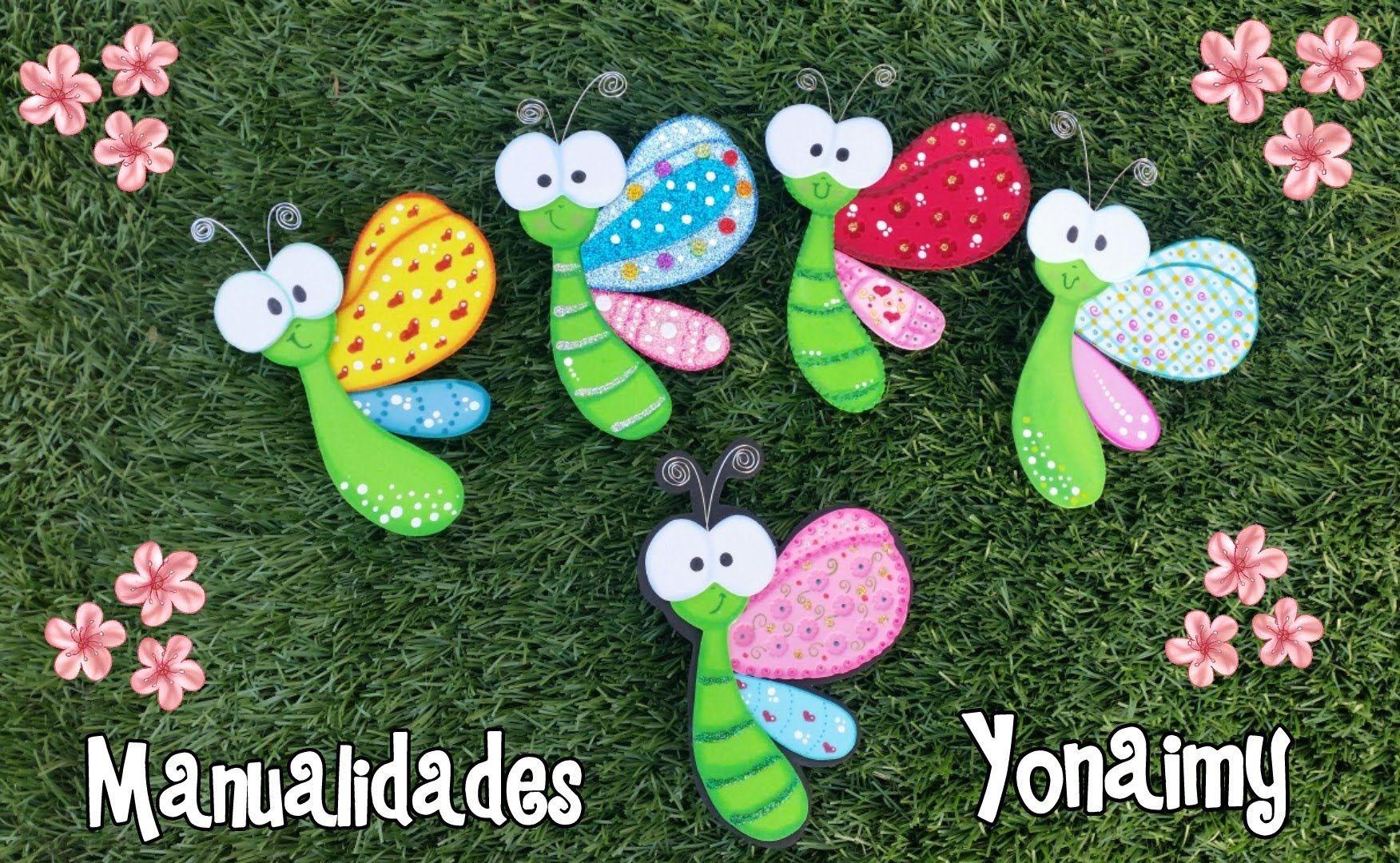 Mariposas de perfil hechas con foamy o goma eva goma - Como hacer mariposas de goma eva ...