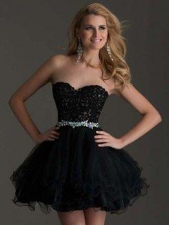 Sweet 16 Dresses Short Black