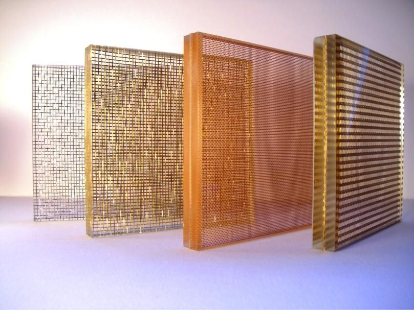 Some of our mesh laminated glass options. Laminated