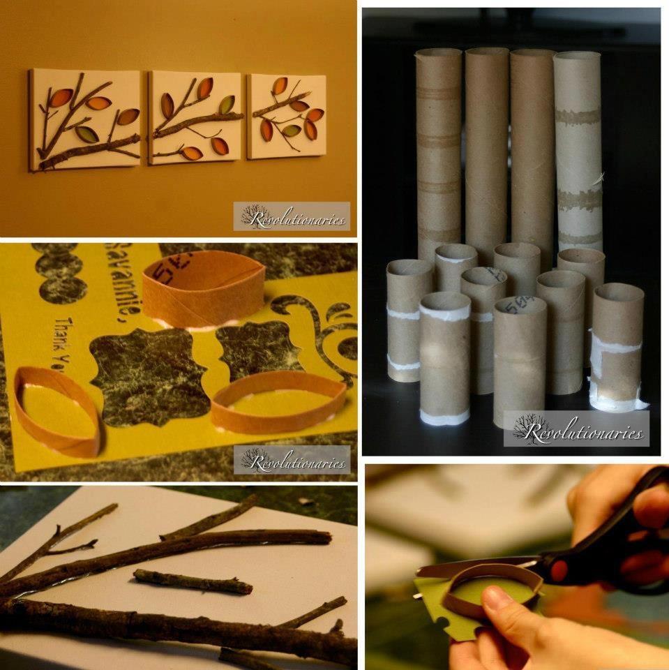 Riciclo rotoli di carta con quadri incredibili | Idee Creative ...