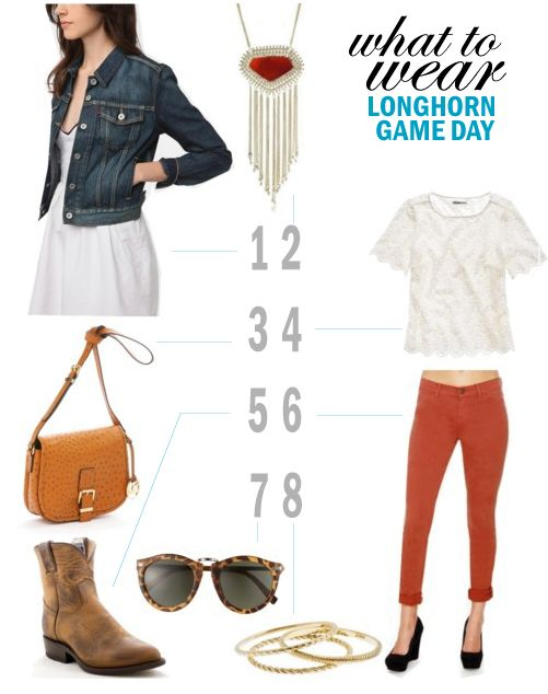 What to Wear: University of Texas Game Day #hookem