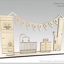 Afbeeldingsresultaat voor geboortekaartje lasersnijden