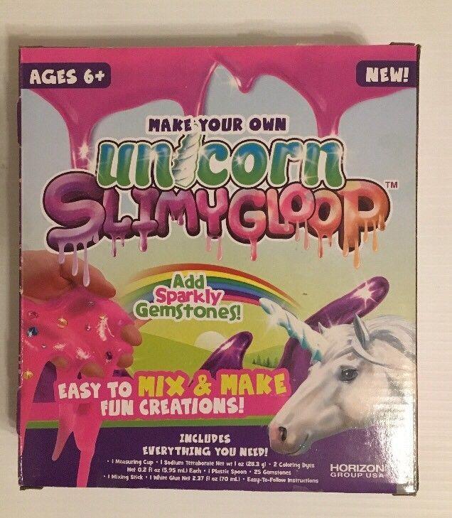 Unicorn Slimy Gloop Slime Maker Easy Kids Craft Education Kit Ebay Slime Ingredientes Juguetes Para Ninas Como Hacer Slime