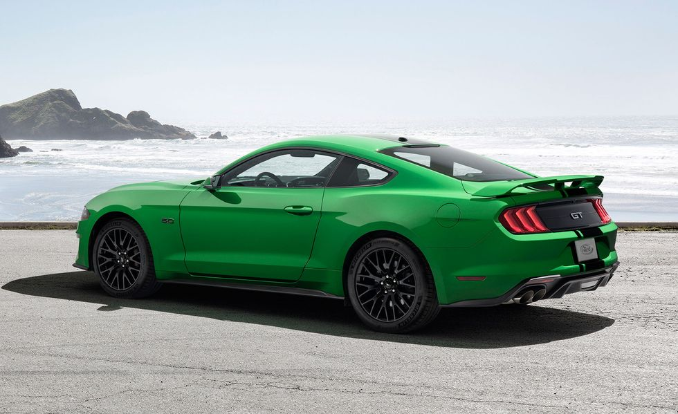 The Wildest Craziest Car Paint Colors For 2020 Ford Mustang Mustang Green Mustang
