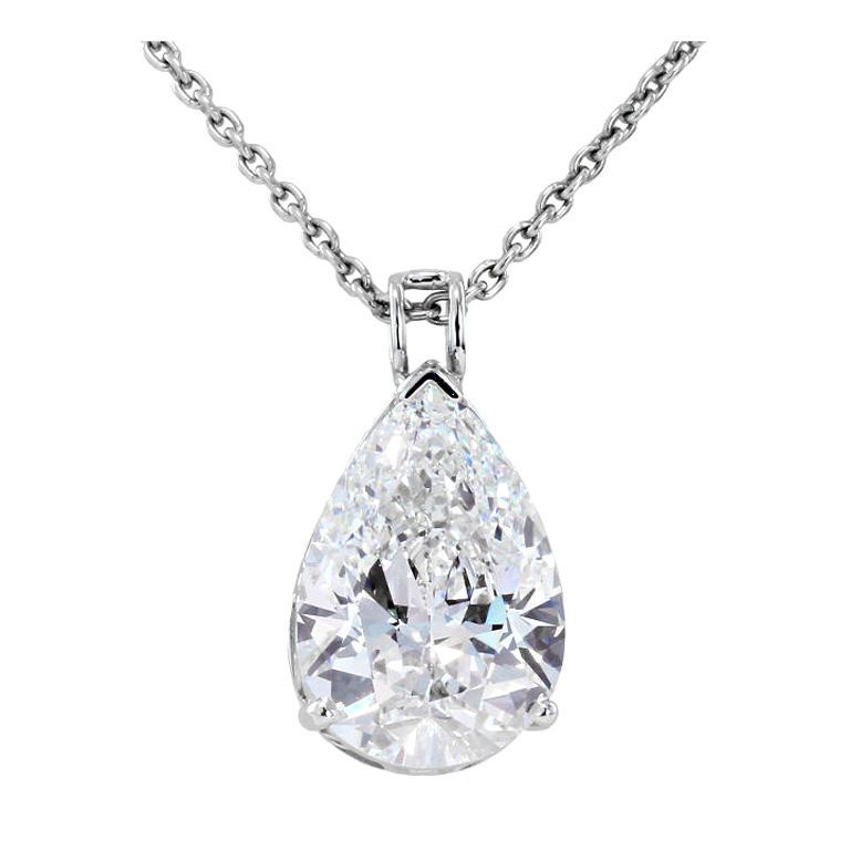 Striking six carat pear shaped diamond pendant mozeypictures Images
