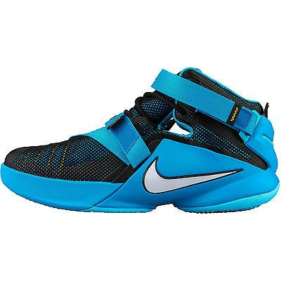 a440fff68b6 Nike Lebron Soldier 9 IX Gs Kids 776471-014 Blue Basketball Shoes Youth  Size 5