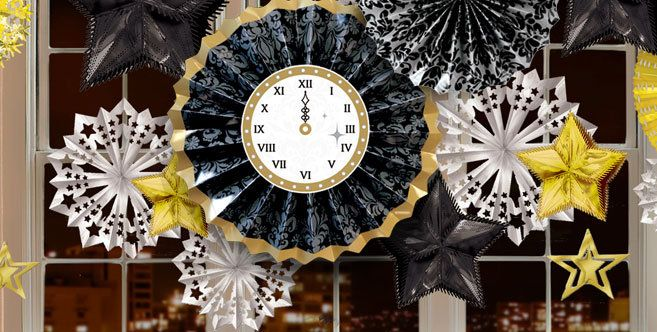 Black, Gold, Silver New Year\u0027s Eve Decorations , Party City