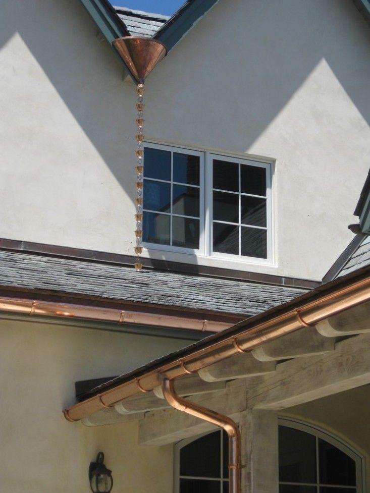 Hardscaping 101 Rain Chains Home Copper Gutters Rain