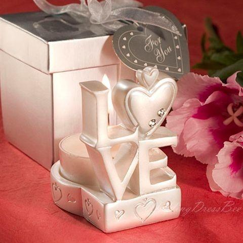 Love Letter Shaped Candle Holder Favors