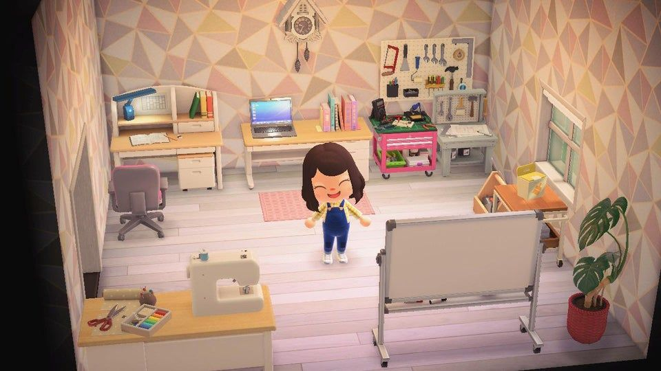 My favorite spot of the entire island, my craft room ... on Animal Crossing Bedroom Ideas New Horizons  id=51336