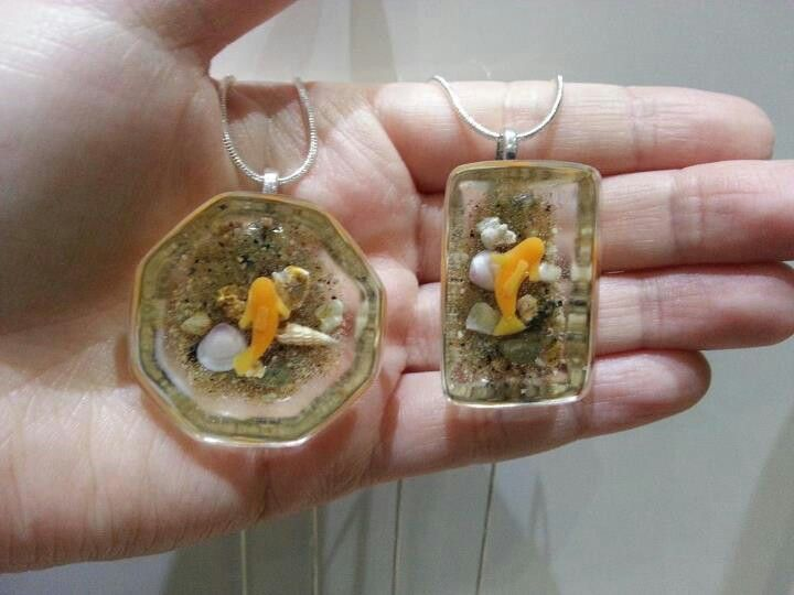 Resin polymer clay fish pond necklaces by dee raa arts for Clay fish pond