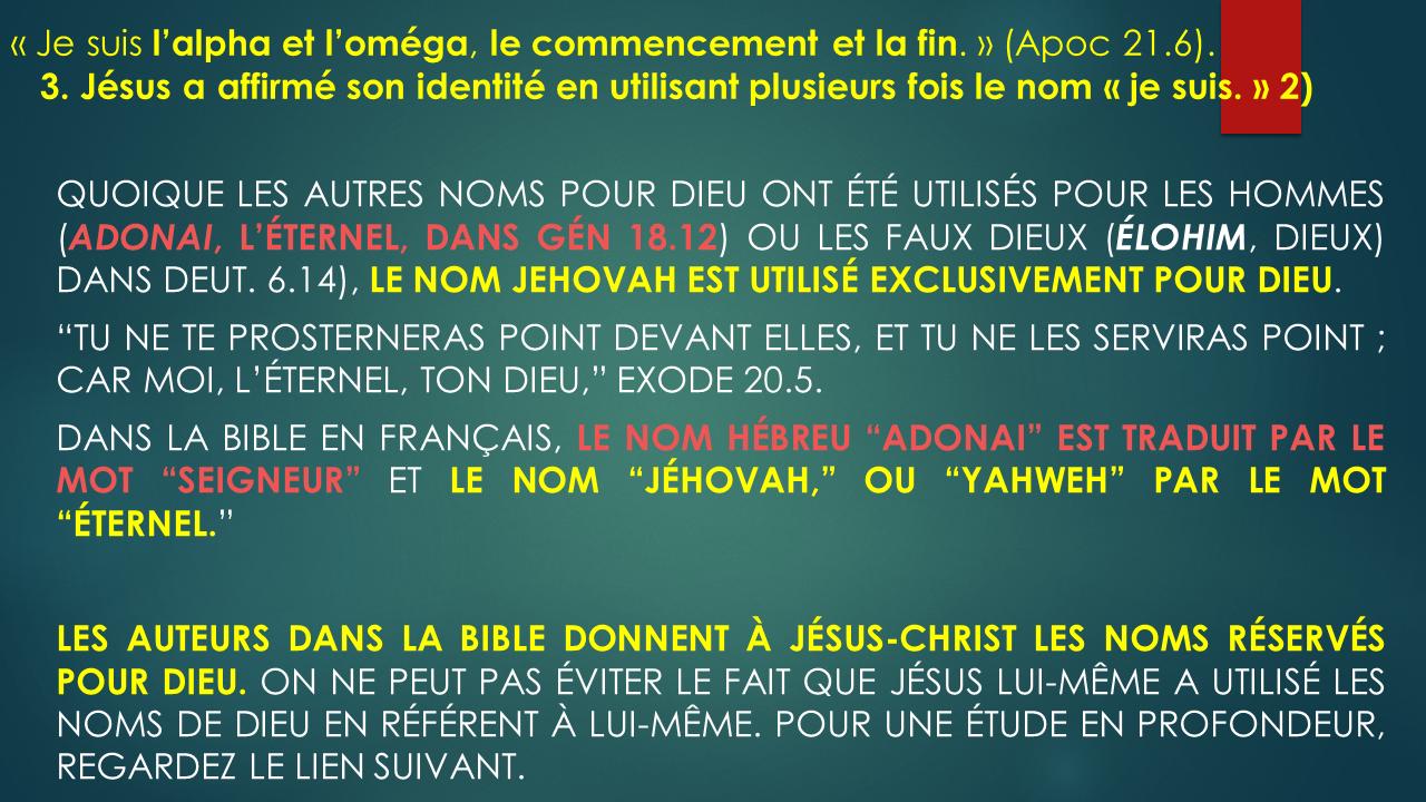 3 Identite De Jesus Je Suis 2