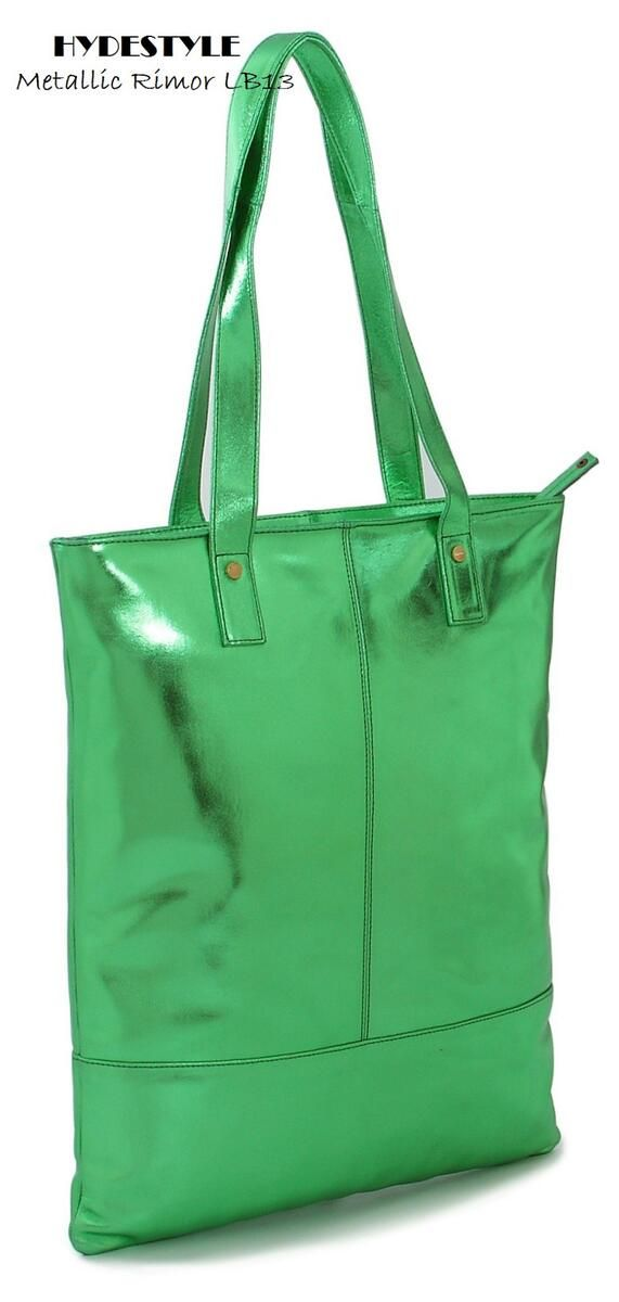 0f9df58ea3 Metallic green real suede tote bag from Rimor collection
