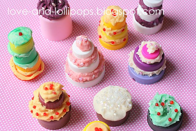 Mini Designer Bottle Top and Play Dough Cakes