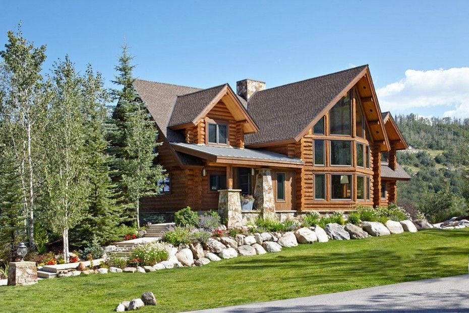 An Adorable Contemporary Log Manor Based On Manor In