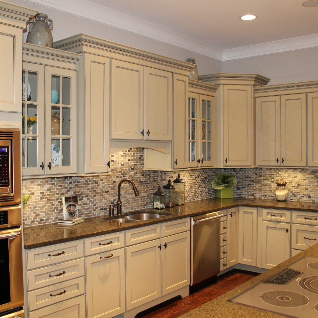 Dark Beige Kitchen Cabinets: Accessible Beige Kitchen Cabinets