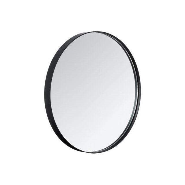 DECLIKDECO Grand miroir rond avec contour noir SUBTILE