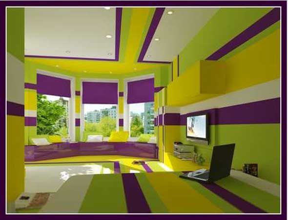 Lime and Purple Bedroom | Bedroom paintings, Bedroom wall colors and ...