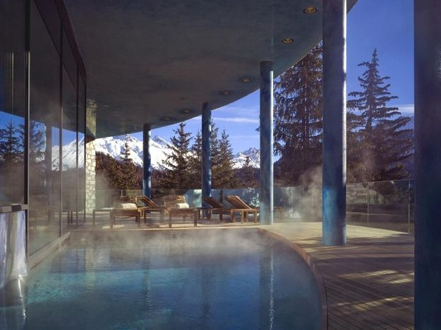 The Luxury Carlton Hotel in St. Moritz, Switzerland