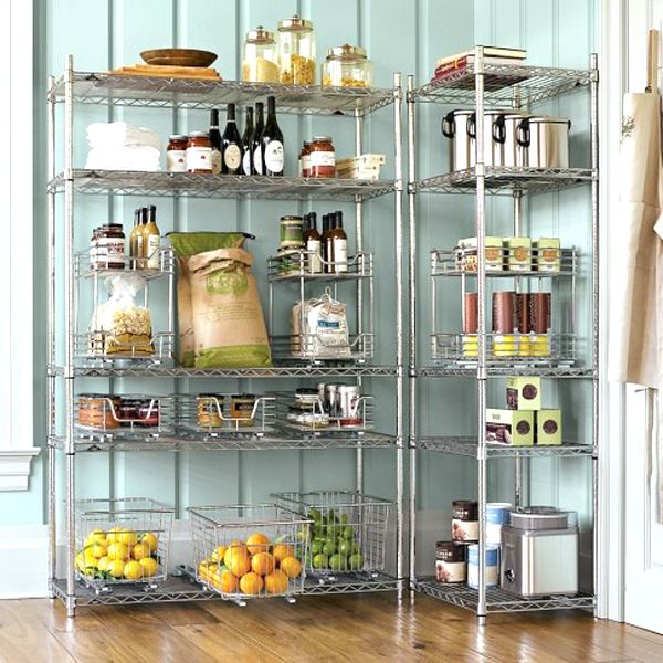 Metro Commercial Pantry Storage: Open Pantry. Likely Omar From Ikea (or Something Similar
