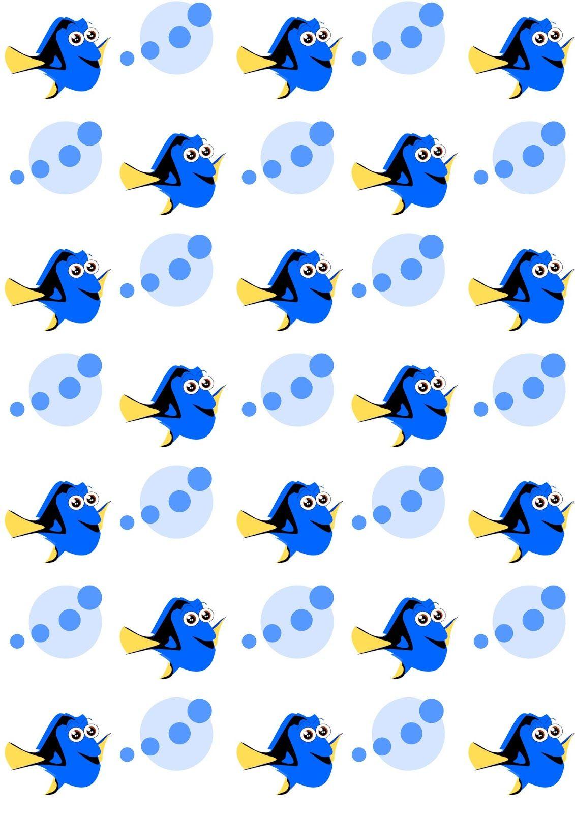 Free Digital Dory Fish Scrapbooking Paper