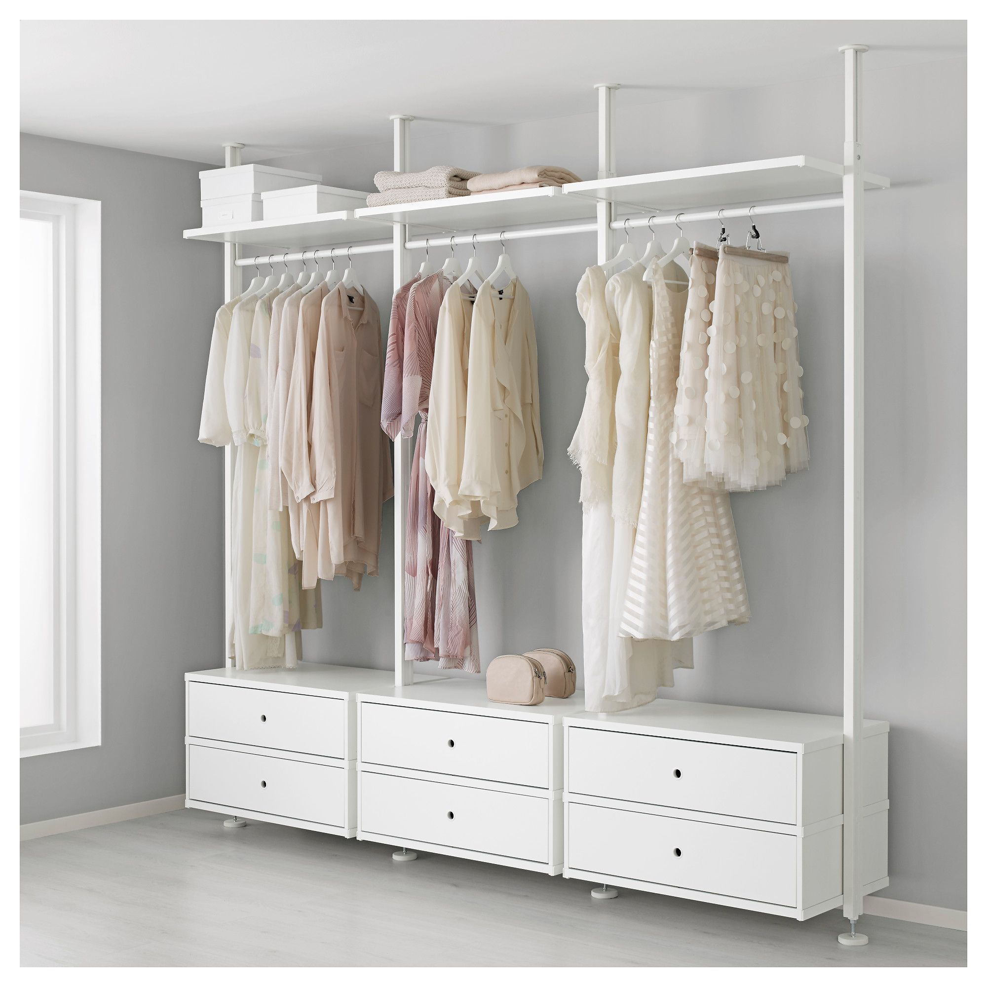Elvarli 3 Sections White 101 3 4x20x87 1 4 137 3 4 Closet