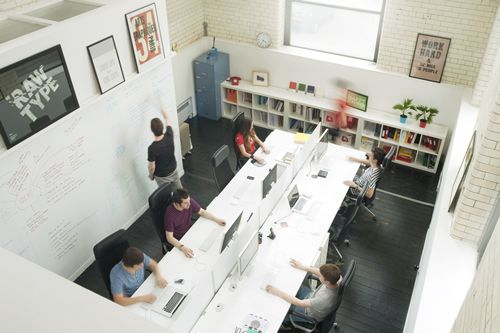 studio office design. Office Space Of Creative Studio Raw Love The Wall For Writing Notes! Design