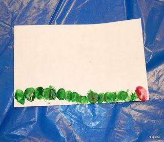 Tippytoe Crafts: Fingerprint Caterpillars